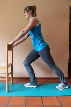 calf stretch -(b)-standing (weight bearing); p35