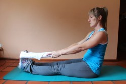 calf stretchs - (a) sitting stretch (non-weight bearing); 38