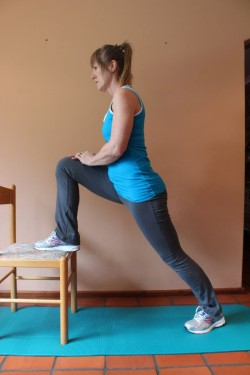 hip flexor stretch; p51