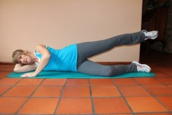 outer thigh muscle exercises (a) in side lying 2; p80