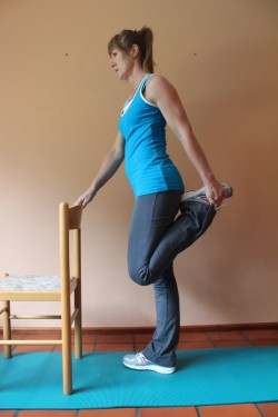 quadriceps stretch X; p87