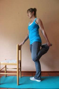 quadriceps stretch XX; p88