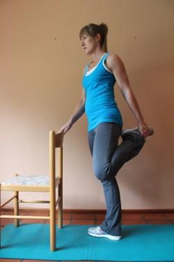 quadriceps stretch XX; p88